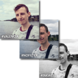 Examples of different instagram filters