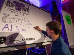 Live graphic recording vrt media fast forward