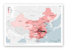 Choropleth map of the spread of the coronavirus in China as of January 26, 2020 (CNN)