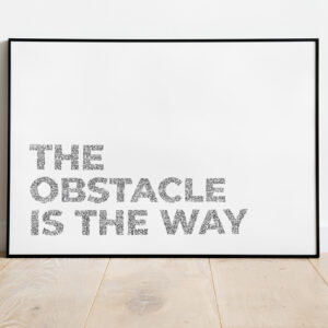 poster obstacle is the way mockup